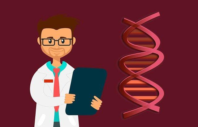 Grafik Arzt mit DNA