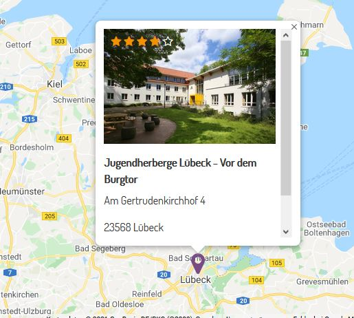 DJH Lübeck Karte