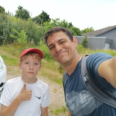 Martin mit Betreuer Marco