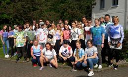 Pfingstcamp Bad Segeberg Teilnehmer mit Gruppenfoto