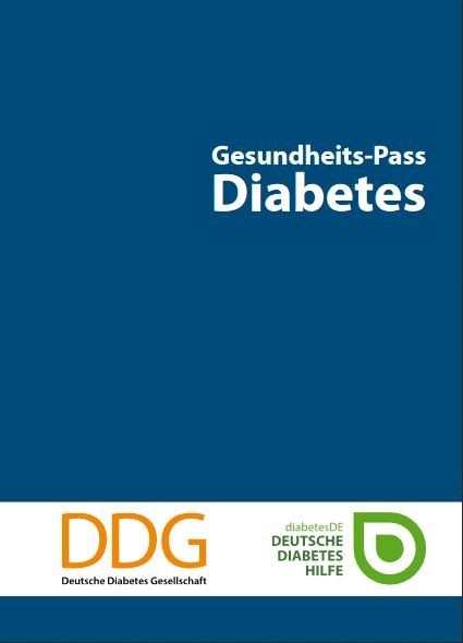 Titelbild Gesundheitspass Diabetes für Erwachsene