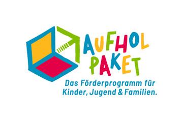 BMFSFJ Logo Aufholpaket Förderprogramm für Kinder, Jugend und Familien