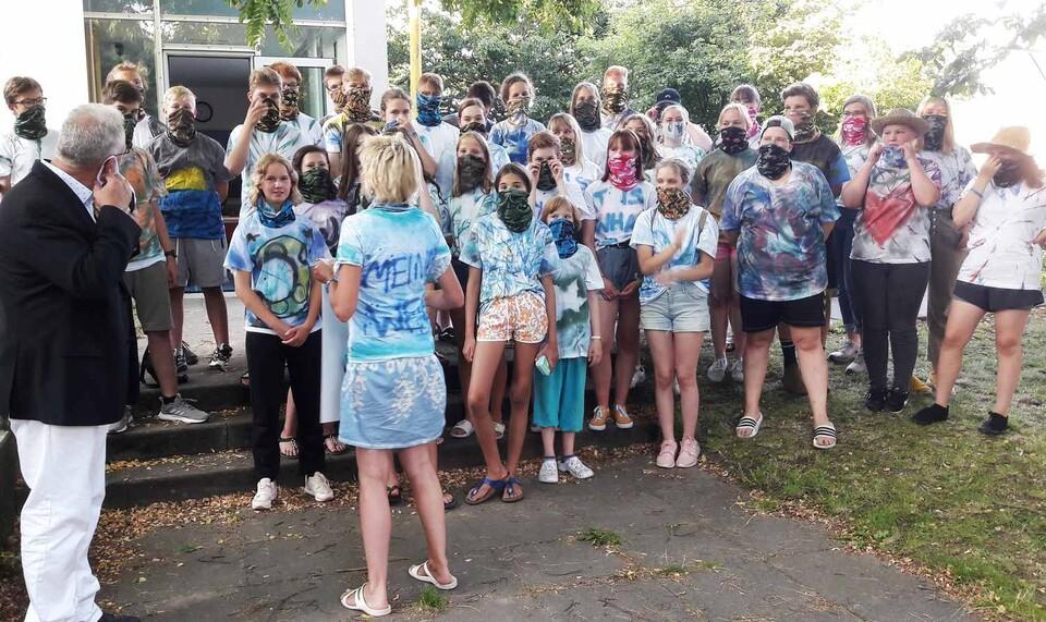 Gruppenfoto der Teilnehmer des Sommercamps Lübeck