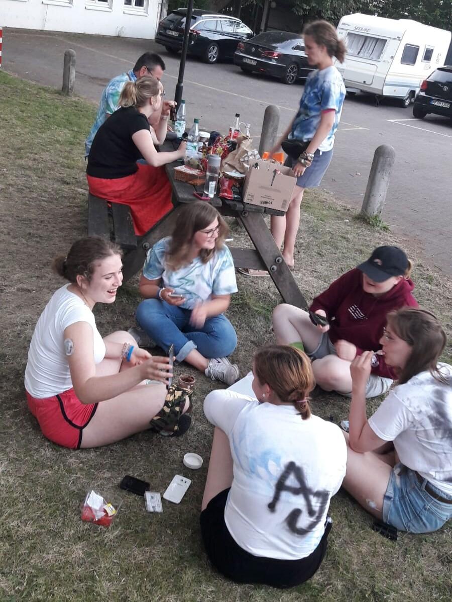 Sommercamp Lübeck, kleine Gesprächsrunde